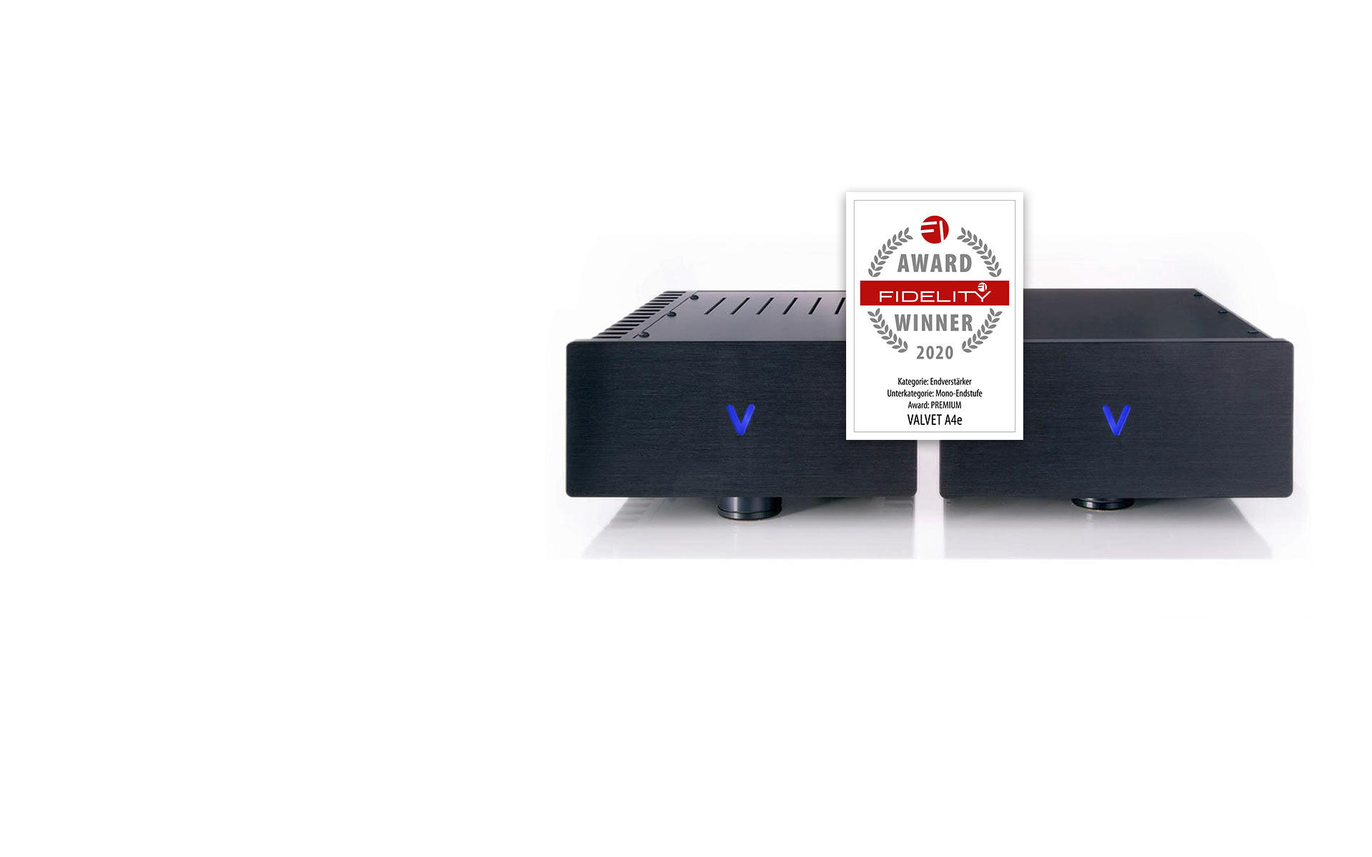 The A4e amplifiers have received the FIDELITY AWARD 2020